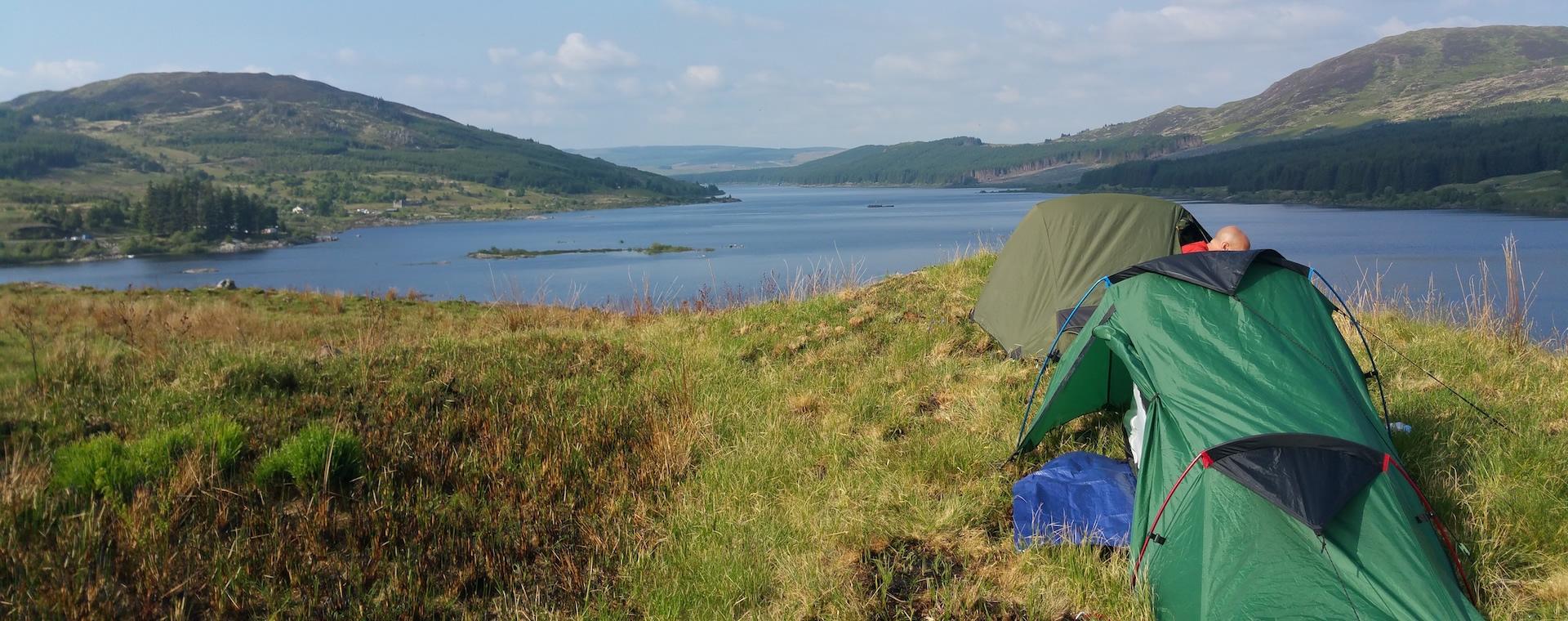 Canoe camping Loch doon