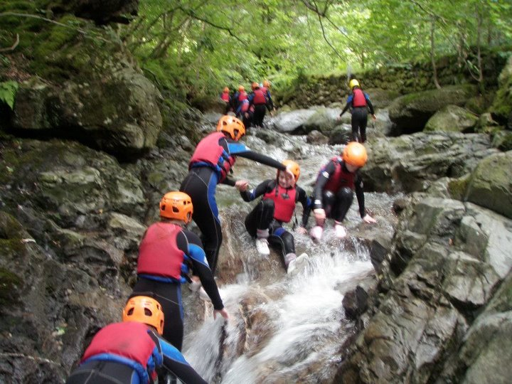 Gorge walking group