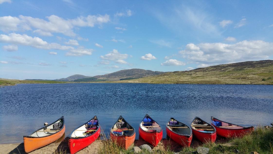 Canoeing Galloway hills