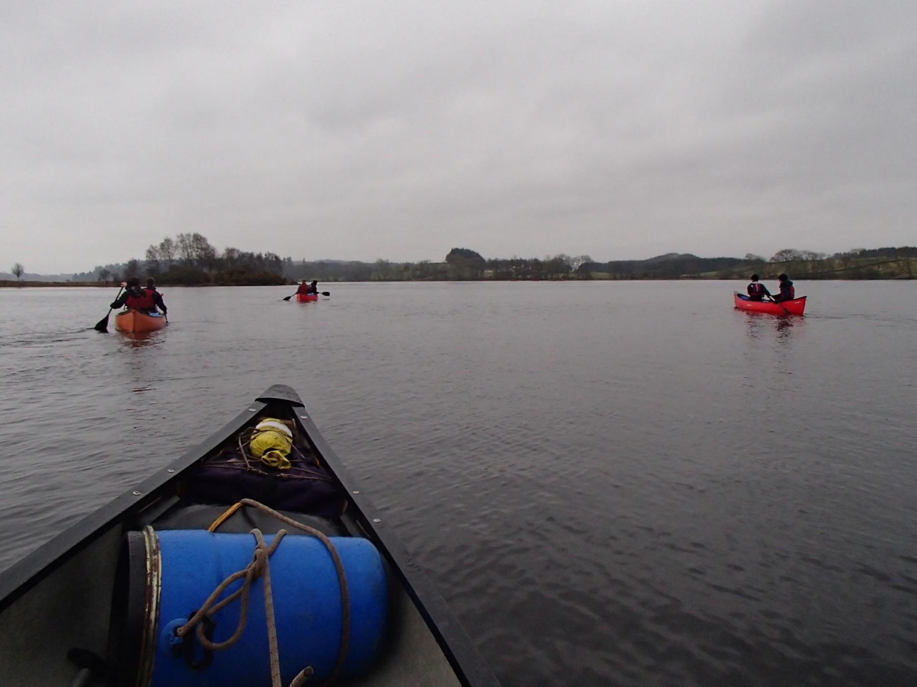Canoeing Inland Loch